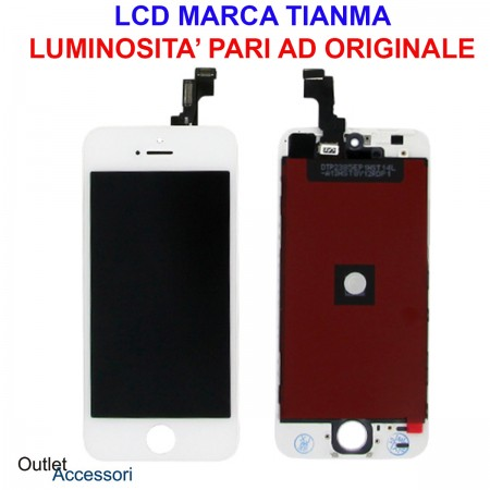 Display Schermo LCD Touch Screen Vetro Apple Iphone SE A1723 A1662 A1724 BIANCO