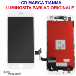 Display Schermo Apple IPHONE 7 A1660, A1778 LCD Touch Screen Vetro BIANCO Originale OEM TianMa