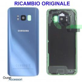 Copribatteria Samsung Galaxy S8 G950 Originale SM-G950F BLU CORAL BLUE Schermo Completo GH97-20457D