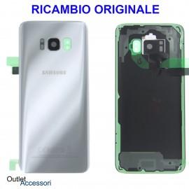 Copribatteria Samsung Galaxy S8 G950 Originale Scocca Vetro Posteriore Retro silver