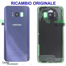 Copribatteria Samsung Galaxy S8 G950 Originale Scocca Vetro Posteriore Retro Viola Purple