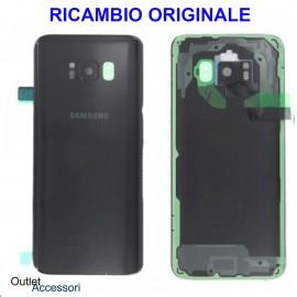 Copribatteria Samsung Galaxy S8 G950 Originale Scocca Vetro Posteriore Retro NERO
