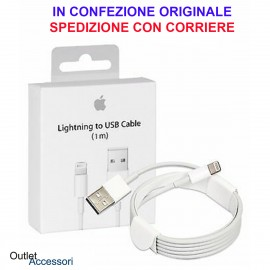 Cavo USB Lightning APPLE Iphone 5 5c 5s 6 Plus 7 8 Ipad Air ORIGINALE 100cm MD818ZM/A