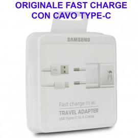 Alimentatore Caricatore Originale Samsung Type-C Fast Charge Carica Veloce 15W EP-TA20EWECGWW Blister