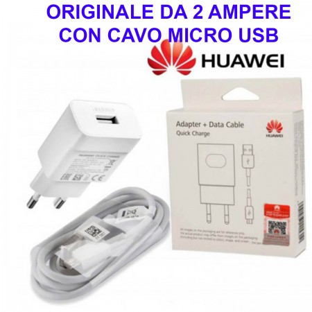 Alimentatore Caricatore Originale HUAWEI AP32 MICRO USB Quick Charger Carica Veloce Bianco Blister