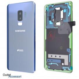Copribatteria Scocca Samsung Galaxy S9 PLUS G965F CORAL BLU Originale Vetro Posteriore GH82-15660D