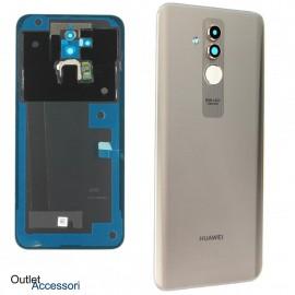 Copribatteria Scocca Vetro Posteriore Originale Huawei MATE 20 LITE GOLD ORO Tasto Impronte Back Cover 02352DKS