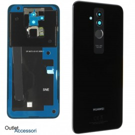 Copribatteria Scocca Vetro Posteriore Originale Huawei MATE 20 LITE NERO Tasto Impronte Back Cover 02352DKP