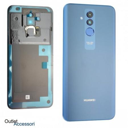 Copribatteria Scocca Vetro Posteriore Originale Huawei MATE 20 LITE BLU Tasto Impronte Back Cover 02352DKR