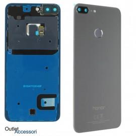 Copribatteria Scocca Vetro Posteriore Originale Huawei HONOR 9 LITE SILVER GRIGIO Tasto Impronte Back Cover 02351SNE