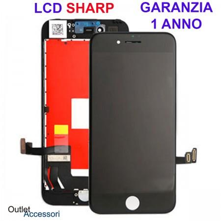 Display Schermo ORIGINALE SHARP per Apple Iphone 7 Nero LCD Touch Vetro OEM 3D