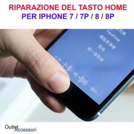 Servizio Riparazione Cambio Tasto Home Rotto per Apple Iphone 7 Ripristino Pulsante Centrale