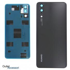 Copribatteria Scocca Vetro Posteriore Originale Huawei P20 NERO Tasto Impronte Back Cover EML-L09