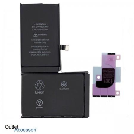 Batteria Pila Qualità ORIGINALE Apple Iphone X 10 A1865 A1901 616 00351 Adesivo