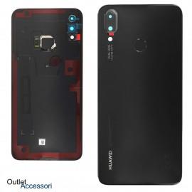 Copribatteria Scocca Posteriore Originale Huawei P SMART PLUS NERO Vetro Tasto Impronte Back Cover 02352CAH