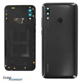 Copribatteria Scocca Posteriore Originale Huawei P SMART 2019 NERO Tasto Impronte Back Cover 02352HTS