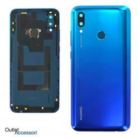 Copribatteria Scocca Posteriore Originale Huawei P SMART 2019 BLU Tasto Impronte Back Cover 02352HTV
