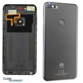 Copribatteria Scocca Posteriore Originale Huawei Y7 2018 LDN L21 L01 LX3 Tasto Impronte Back Cover NERA