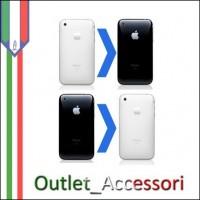 Sostituzione COVER SCOCCA POSTERIORE + CORNICE E TASTI per Apple Iphone 3G 3GS