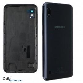 Scocca Copribatteria ORIGINALE Samsung A10 A105F Vetro Posteriore Fotocamera