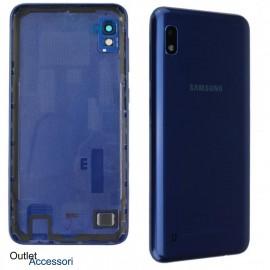 Scocca Copribatteria ORIGINALE Samsung A10 A105F BLU Vetro Posteriore Fotocamera