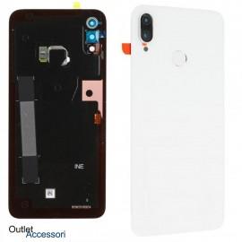 Copribatteria Scocca Posteriore Originale Huawei P SMART PLUS + BIANCA Vetro Tasto Impronte Back Cover 02352CAQ