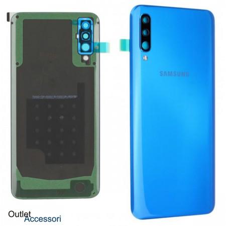 Scocca Copribatteria Vetro Posteriore ORIGINALE Samsung A50 A505 A505F SM BLU Adesivo sm