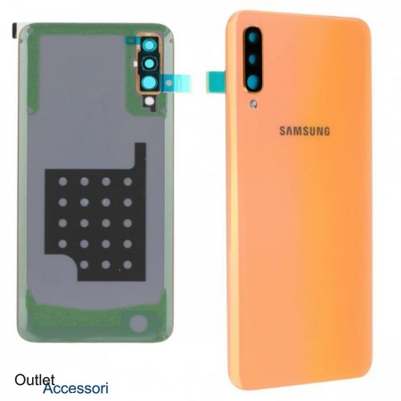 Scocca Copribatteria Vetro Posteriore ORIGINALE Samsung A50 A505 A505F SM CORAL Adesivo sm
