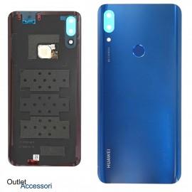 Copribatteria Scocca Posteriore Originale Huawei P SMART Z STK-LX1 BLU Vetro Tasto Impronte Back Cover 02352RXX