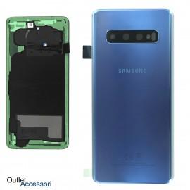 Copribatteria Scocca Samsung Galaxy S10 BLU BLUE Originale G973 Vetro Posteriore GH82-18378C