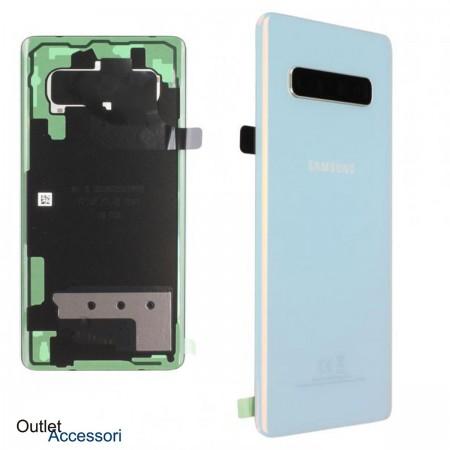Copribatteria Scocca Samsung Galaxy S10 PLUS G975F PRISM WHITE Originale Vetro Posteriore GH82-18406F
