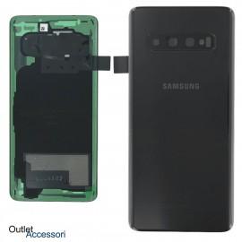 Copribatteria Scocca Samsung Galaxy S10 NERA Originale G973 G973F Vetro Posteriore