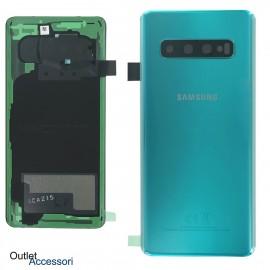 Copribatteria Scocca Samsung Galaxy S10 VERDE Originale G973 G973F Vetro Posteriore