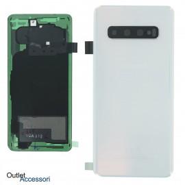 Copribatteria Scocca Samsung Galaxy S10 BIANCO PRISM GREEN Originale G973 G973F Vetro Posteriore