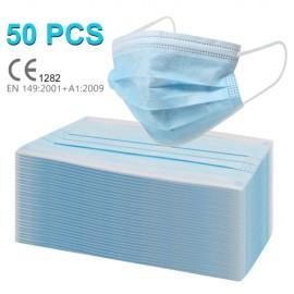 Maschera Mascherina Chirurgica 3 Strati Certificata Blu Anti Virus Coronavirus Covid