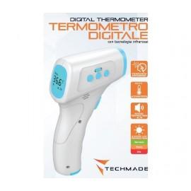 Dettagli su Termometro Digitale Infrarossi Laser Distanza Temperatura Febbre IR Certificato
