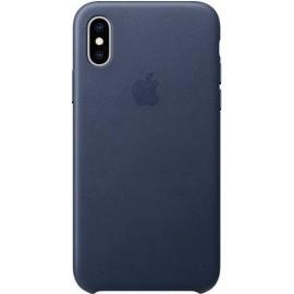 Cover Custodia ORIGINALE Apple Iphone X XS Pelle Cuoio Leather Blu Midnight Blue