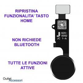 Flat Flex Ripristino Tasto Pulsante Home Nero Apple Iphone 7 8 Plus Kit Bluetooth JC