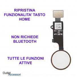 Flat Flex Ripristino Tasto Pulsante Home Bianco Silver Apple Iphone 7 8 Plus V4