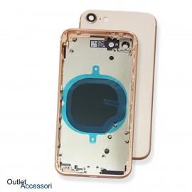 Scocca Cornice Vetro per Apple Iphone 8 Posteriore Fotocamera Telaio ROSA GOLD Copribatteria