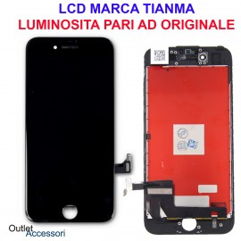 Display Schermo IPHONE SE 2020 A2296 A2298 A2275 LCD Touch Screen Apple BLACK Tianma Vetro