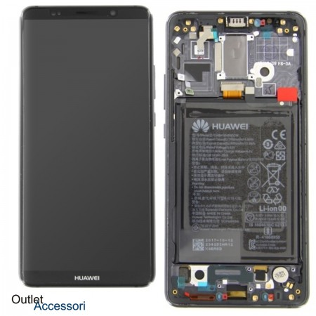 Display Schermo LCD Originale Huawei MATE 10 PRO Nero Grey Batteria Scocca Touch 02351DMR