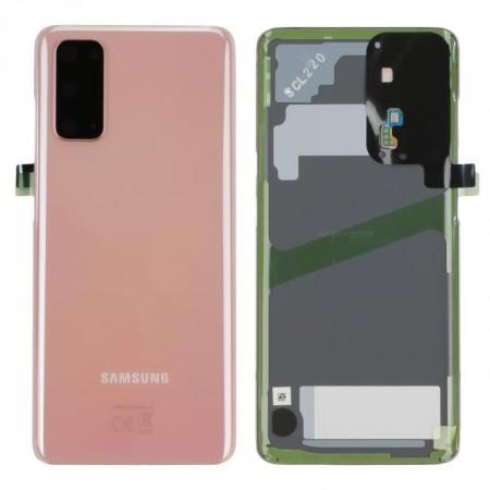 Scocca Copribatteria Vetro ORIGINALE Samsung Galaxy S20 G980F 5G G981B Rosa Pink