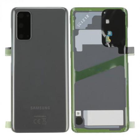 Scocca Copribatteria Vetro ORIGINALE Samsung Galaxy S20 G980F 5G G981B COSMIC GREY