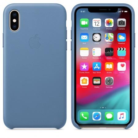 Cover Custodia ORIGINALE Apple Iphone X XS Pelle Cuoio Leather BLU