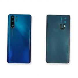 Copri Batteria Vetro Posteriore per Huawei P30 PRO Blu Aurora Back Cover